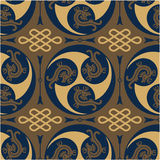 Oriental - Japanese - Authentic Seamless Pattern Stock Image