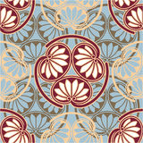 Oriental - Japanese - Seamless Pattern Royalty Free Stock Image