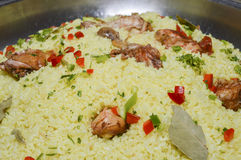 Oriental kabsa rice at a hotel restaurant buffet Stock Images