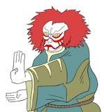 Oriental kabuki mask Stock Photo