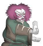 Oriental kabuki mask Stock Images
