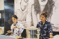 Oriental kitchen at Tuttofood 2015 in Milan, Italy Stock Photography