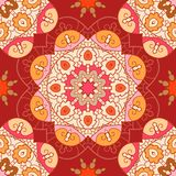 Oriental lace seamless pattern. Oriental lace seamless background with circle ornament Royalty Free Stock Photography