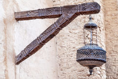 An oriental lamp with artful ornaments Royalty Free Stock Photography