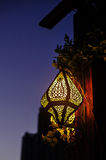 Oriental lamp on the street Royalty Free Stock Photos