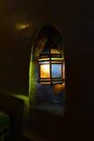 Oriental lantern, night view. Night view of oriental arabic lantern Stock Photography
