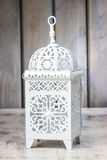 Oriental lantern on wooden table Royalty Free Stock Photography