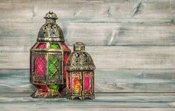 Oriental light lantern. Arabic decoration vintage Stock Photo