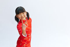 Cheongsam little girl Royalty Free Stock Photo