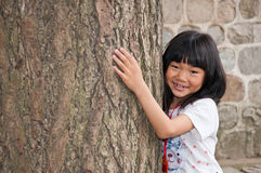 Oriental little girl Stock Images