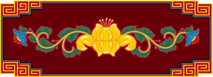 Oriental Lotus Design Element Royalty Free Stock Photography