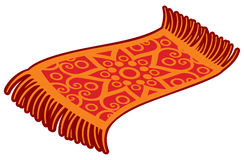 Oriental magic carpet. Vector illustration Royalty Free Stock Image