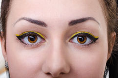 Oriental make-up Royalty Free Stock Image