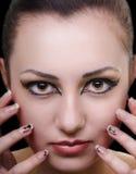 Oriental make-up Royalty Free Stock Photos