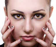 Oriental make-up Royalty Free Stock Photography