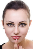 Oriental make-up Stock Images