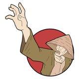 Oriental man. Creative design of oriental man illustration Stock Image