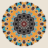 Oriental mandala motif round lace pattern Stock Photography