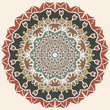 Oriental mandala motif round lase pattern Royalty Free Stock Photography