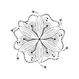 Oriental mandala motif of round swirling shape, illustration of floral pattern for decoration in Oriental style royalty free illustration
