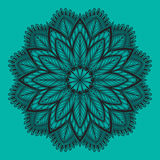 Oriental mandala. Vector ornament. Template for any surface. Royalty Free Stock Photos
