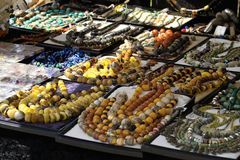 Oriental market. Oriental necklaces Royalty Free Stock Images