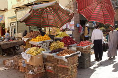 The Oriental Market of Aswan in Egypt Stock Photos