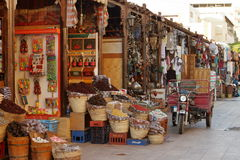 The Oriental Market of Aswan in Egypt Royalty Free Stock Photos