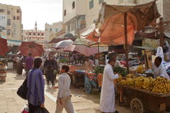 The Oriental Market of Aswan in Egypt Stock Image