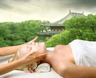 Oriental massage Royalty Free Stock Photos