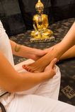 Oriental massage Stock Photography