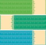 Oriental mehndi pattern horizontal banners Stock Photo