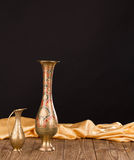 Oriental metal jar. Royalty Free Stock Photos