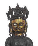 Oriental metal mask figure isolated. Stock Photography