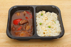 Oriental microwave meal Stock Photos