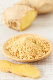 Oriental  mix of fresh and powder ginger Royalty Free Stock Photo