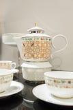Oriental a modelé le bac de thé Photos stock