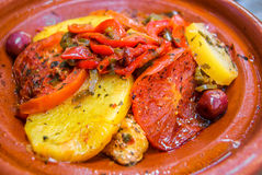 Oriental moroccan food, traditional cuisine. Royalty Free Stock Image