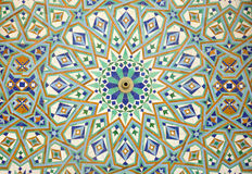 Oriental mosaic in Casablanca Royalty Free Stock Photos