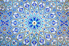 Oriental Mosaic in Morocco. Oriental Mosaic at the Mosque Hassan II in Casablanca, Morocco Stock Photo