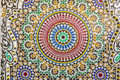 Oriental Mosaic in Morocco. Traditional oriental Mosaic in Morocco Stock Photography
