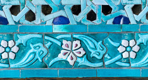 An oriental mosaic pattern on a mosque in St. Petersburg, Russia Stock Images
