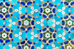 An oriental mosaic pattern on a mosque in St. Petersburg, Russia Royalty Free Stock Photos