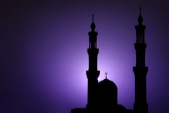 Oriental Night. Mosque in the evening, Hurghada, Egypt Royalty Free Stock Photography
