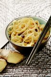 Oriental noodles and chopsticks Royalty Free Stock Photo