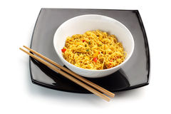 Oriental noodles soup stock photography