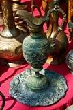 Oriental old metal utensil Royalty Free Stock Photo