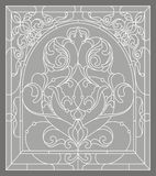 Oriental ornament. Ornate arch monochrome Stock Photos