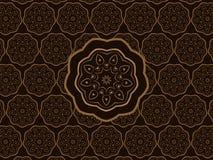 Oriental Ornament Vector Pattern. Oriental Brown Ornament Scalable Vector Wall Pattern vector illustration