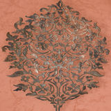Oriental Ornament. Wooden oriental ornament on wall Royalty Free Stock Image